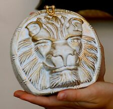 AUTHENTIC TIMMY WOODS LION KING MUFASA BOLD HAND CARVED BAG CLUTCH MINAUDIERE
