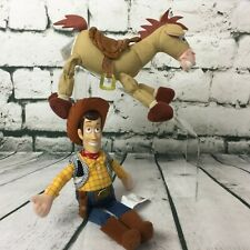 "Disney Pixar Toy Story Mini Bean Bag Woody 10.5"" & Bullseye 8"" Horse Plush Dolls"