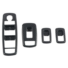 Carbon Fiber Inner Door Window Lift Switch Cover 4pcs For Dodge Ram 1500 19-20
