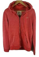Hollister Mens Zip Through Hoodie Small Size S Red Hooded Jacket Long Sleeved