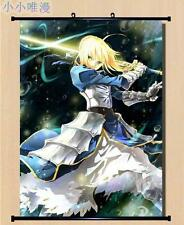 Anime Fate/stay Night Fate Zero Saber Home Decor Poster Wall Scroll 60x90cm