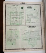 Antique Map/Plan Of Sigourney/Brighton/Washin gton Iowa - Andreas Atlas Co. 1875