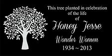 Memorial Headstone 6x12 human grave marker plaque Temporary marker Tree planting