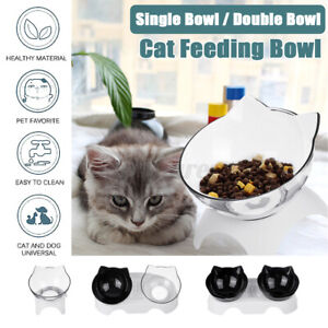 Non-Slip Cat Double Bowl with Raised Stand Pet Food Water Bowl Dog Cat Feeder