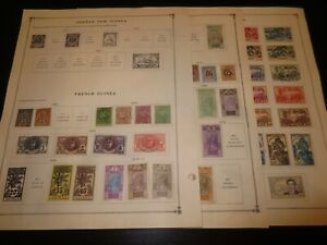 French Guinea Collection of 80+ Stamps on Scott Album Pages