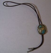 with turquoise stones Vintage Bolo tie