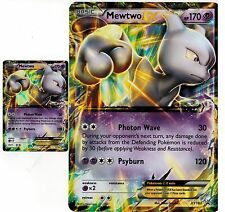 Jumbo / Oversized * Mewtwo EX XY183 +  Mewtwo EX XY183 Normal Ultra FOIL POKEMON