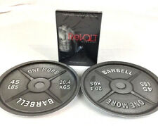 2 pc One More Barbell Dinner Plate & Revolt Home Fitness/Weight Loss/Workout DVD