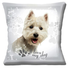 West Highland Terrier Dog Copricuscino 16x16 pollici 40cm Westie amo il mio cane