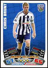 Chris brunt #318 topps match attax football 2011-12 trade card (C208)