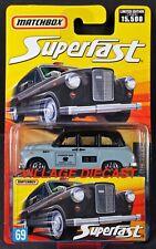 2006-2007 Matchbox Superfast #69 Austin FX4 London Taxi GREY / BLACK / MOC