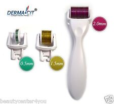 DERMA-CIT® 3-In-1 Kit Derma Roller Titanium 180/600/1200 Needles (0.5-1.5-2.0mm)