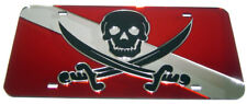 Calico Jack Pirate on Dive Flag license plate laser cut mirrored acrylic