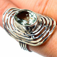 Large Green Amethyst 925 Sterling Silver Ring Size 8 Ana Co Jewelry R27877F