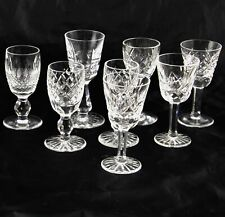 10 Waterford Webb Corbett Signed Crystal Cordial Glasses Assorted Patterns Mint