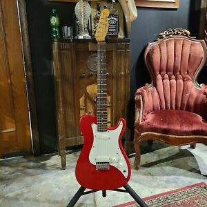 1981 Fender Bullet Deluxe Telecaster  Red w/ohsc and case candy