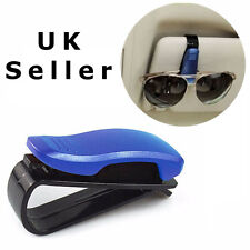 Blue Car Sunglasses Ticket Pen Credit Card Holder Clip Glasses Sun Visor Mount