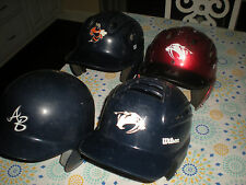 Lot of (4) Youth Baseball Batting Helmets -(3) Wilson & 1 Rawlings