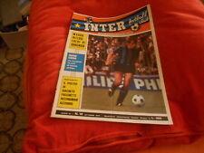 CALCIO  RIVISTA  INTER  FOOTBALL  CLUB  NR 10  OTTOBRE  1972   POSTER  FACCHETTI