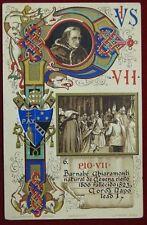 "PAPA PIO VII  POPE PIUS VII  postcard illustrata no viaggiata ""900 f/p #5628"