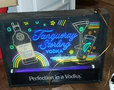 Vintage Tangueray Sterling Vodka Perfection in Vodka Neon Advertizing Bar Light