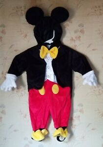DISNEY BABY MICKEY MOUSE HALLOWEEN COSTUME INFANT BOYS SIZE  6 MONTHS