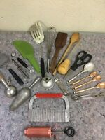 Lot Of Mixed Vintage Kitchen Utensils