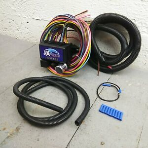 12v 18 Circuit 12 Fuse Universal Wiring Harness Kit 1964 pontiac 1950 ford