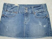 NEW American Eagle Outfitters Women's Distressed Wash Denim Jean Skirt Sz 8 NWT