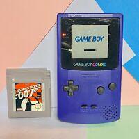 Nintendo Game Boy Colour  Grape / purple Used Working Order + Casino Game