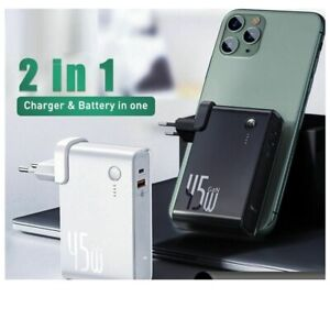 Power Bank Charger 10000mAh 45W USB C PD Fast Charging 2 in 1 Laptop Charger