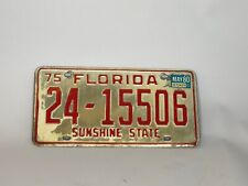 Florida Vtg License Plate 1975 St. Lucie County 24 Tag Classic Sunshine State