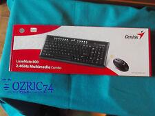 "TASTIERA GENIUS ""LUXEMATE 800"" USB SLIM, 10 TASTI X CONTROLLO MEDIA ED INTERNET"