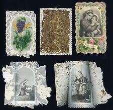 santini merlettati-holy cards lace-canivets-spitzebildichen LOTTO N.604
