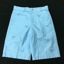 Vineyard Vines Embroidered Lacrosse Stick Chino Shorts Club Blue Boys Size 16