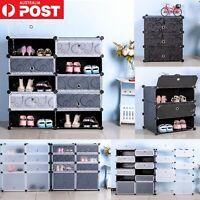 New Cube DIY Shoe Cabinet Rack Storage Portable Stackable Organiser Stand Door