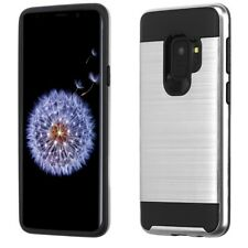 for Samsung Galaxy S9 G960 Brushed Metal Texture Hybrid Case Cover +Prytool