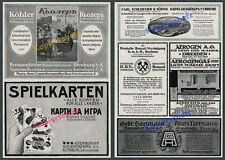 ORIG insegne Köhler macchine per cucire carte da gioco AG Sassonia-Altenburg Bulgaria 1916