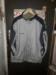 Columbia Vertex Coat Size Large Grey Waterproof & Breathable Excellent Condition