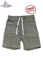 Mens French Terry Knit Shorts Summer Lounge Dark Gray Small 28-30 Inch Waist