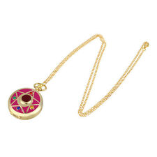 Elegant Sailor Moon Pendant Chain Necklace Pocket Watch Jewelry Gift For Lady