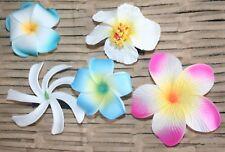 Fleurs Frangipaniers,Tiare et Hibiscus à pinces pour les cheveux lot Hawaï rétro