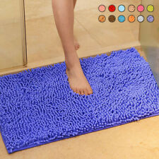 Slip Floor Toilet Kitchen Living Room Bathroom Carpet Chenille Bath Mat Doormat