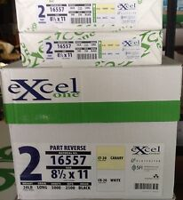 EXCEL ONE Brand 2-part (White and Yellow)  Carbonless Paper - 1,000 Sheets