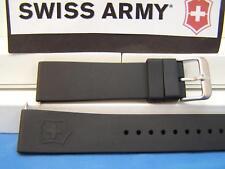 Swiss Army Watch Band Maverick ll (2) Man's black Rubber 22mm Strap Sports Band