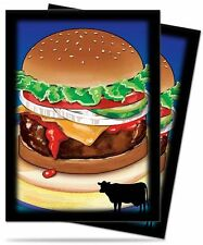 50 DECK PROTECTORS Novelty Food Bacon Burger MTG MAGIC Ultra Pro