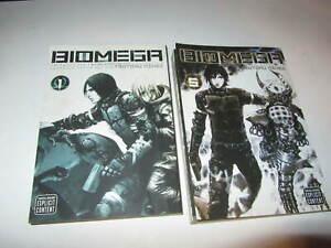 Biomega Manga books volume 1 and 5 English Sci-Fi Horror  FREE SHIPPING