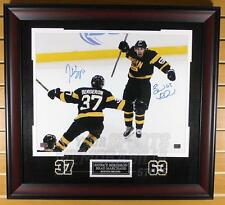 Patrice Bergeron Brad Marchand Bruins Signed Autograph Celebration 16x20 Framed
