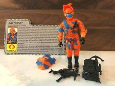 G.I. Joe 1989 Alley Viper Cobra Urban Assault Trooper; Complete with file card