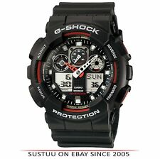 Casio GA100-1A4 G-Shock Chronograph Watch│Shock-Magnetic Resist│World Time│Black